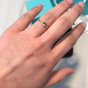39caf766b Tiffany & Co. Jewelry | Tiffany Diamond Hoop Ring 18k | Poshmark
